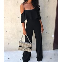 New fashion summer suspenders sexy jumpsuit