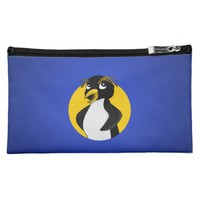 Rockhopper penguin cartoon cosmetic bag