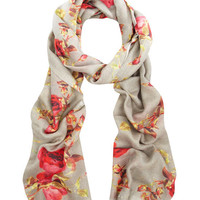 Beige Rose Print Scarf, Lily and Lionel. Shop the latest Lily and Lionel collection at Liberty.co.uk
