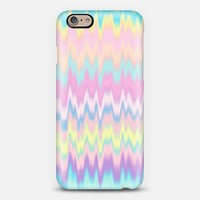 Pastel Candy Tie Dye Waves iPhone 6 case by Organic Saturation | Casetify