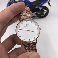 hcxx D021 Daniel Wellington DW Simple girls watch with diamond Rose Gold