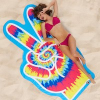 Big Mouth Peace Fingers Beach Towel