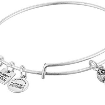 Alex and Ani Charity By Design Ode To The Owl Rafaelian Silver Bangle Bracelet