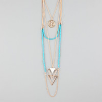 FULL TILT 3 Row Coin/Triangle/Beaded Necklace | Necklaces