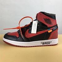 "Air Jordan 1 ""black red "" 36-47"