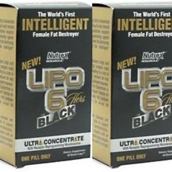 Nutrex Research Lipo Black Ultra Concentrate 60 Caps Double Pack | deviazon.com