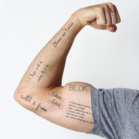 Wise Words  - Temporary Tattoo (Set of 6)