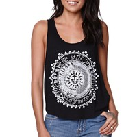 LA Hearts Live By Sun Scoop Tank - Womens Tee - Black