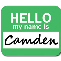 Camden Hello My Name Is Mouse Pad