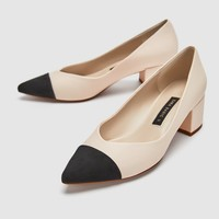 POINTED MID-HEEL COURT SHOES DETAILS