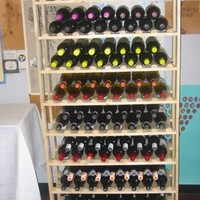120 Bottle Rustic Wood Wine Rack; Super EASY to assemble!! (Made in Oregon)