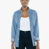 Unisex Denim Long Sleeve Shirt | American Apparel