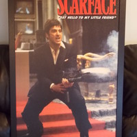 Universal Studios SCARFACE  24 X 36 Framed Stretched Canvas Art Picture