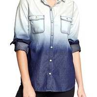 Women's Chambray Ombre Shirts