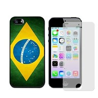 Iphone 5s Case, Brazil Flag Case for Iphone 5/5s - Free Screen Protector
