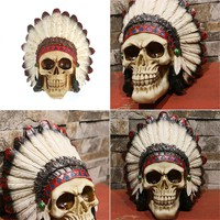 Indian Skull Head Piece Decoration