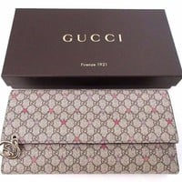 AUTHENTIC Gucci GG Continental stars and GG Continental wallet NEW