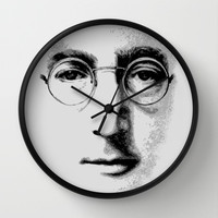 Harry potter Or John Lennon face Decorative Circle Wall Clock Watch by Three Second