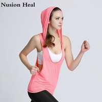 Women Sports Yoga Shirts Tops Vest Sleeveless Solid Color Loose Quick Drying Running Gym Sport Yoga Shirt Women Fitness Tank Top