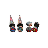 Marvel Comic Faux Taper And Plug 4 Pack