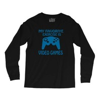my favorite exercise is video games Long Sleeve Shirts