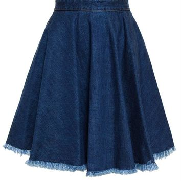 MSGM   Denim Skirt   brownsfashion.com   The Finest Edit of Luxury Fashion   Clothes, Shoes, Bags and Accessories for Men & Women
