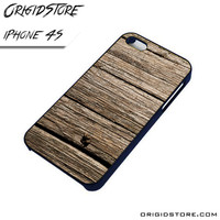 Old Dark Wood Case For Iphone 4/4S Case