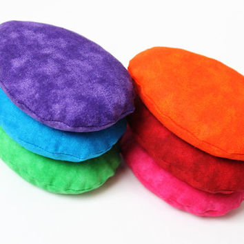 Rainbow Egg Shaped Bean Bags Purple Blue Green Children's Toy Toss Game Party Rice-filled (set of 6) - US Shipping Included