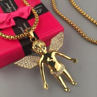 Gift Shiny Stylish New Arrival Jewelry Hot Sale Hip-hop Club Necklace [6542743171]