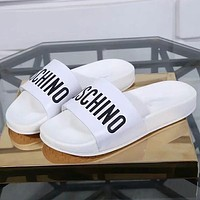 Moschino Woman Men Fashion Slipper Flats Shoes