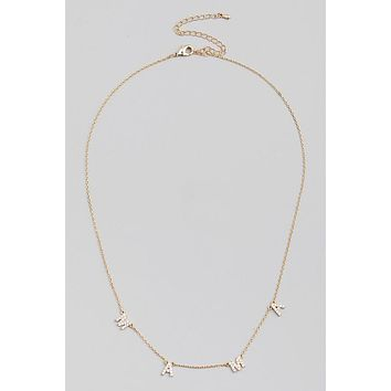 CZ Mama Necklace - Gold