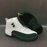 Air Jordan 12 Retro AJ12 Green/White Men Basketball Shoes US7-13-1