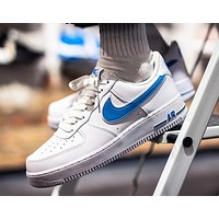 NIKE Air Force 1 '07 Popular Women Men Sport Running Shoes Sneakers White&Blue