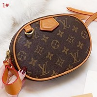 LV LV Louis Vuitton New fashion monogram leather round shoulder bag crossbody bag