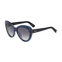 DIOR Sunglasses PROMESSE 1/S 03Hh Blue Striated Gray 55MM