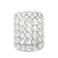 Silver Shimmer Round Candle Cup