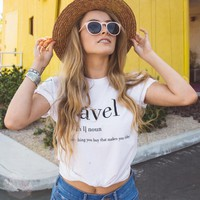 T-shirts Summer Casual White T-shirt Women Tops Letter Print