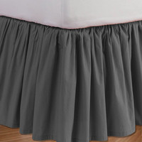 """Platinum Dust Ruffle Bed Skirt with 7"""" to 30"""" Deep Length"""