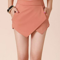 Asymmetrical Casual Short Skirt