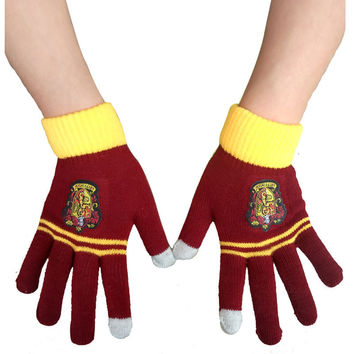 Harry Potter Ravenclaw /Gryffindor/Hufflepuff Warm Costume Touch Glove New costume accessory christmas gift for adult