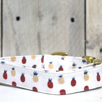 Surf's Up Pineapple Dog Collar