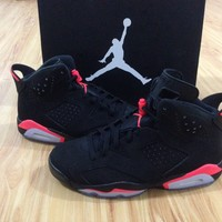 Air Jordan Retro 6 Black Infrared red 2014 VI DS sneakers Basketball Shoes With Box