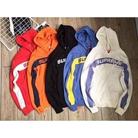 Supreme 5 Colors Patchwork Knit Hoodies Sweatershirt [11555860620]