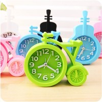Candy colors Creat Portable mini Mute children student clock bicycle Desk Table Alarm Clocks gifts favor