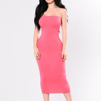 Like A Dragon Dress - Coral Red