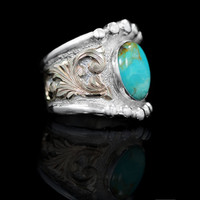 RimRock Turquoise Ring - Hyo Silver