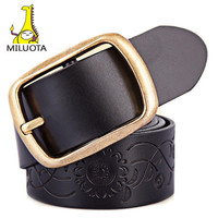 [MILUOTA] 2015 New 100% Genuine leather belts for women fashion metal pin buckle women belt brand thick belt WND688