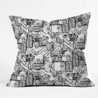 Sharon Turner Type Totty Throw Pillow