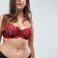 Ann Summers Cecile Non Padded Lace Bra & Brief Lingerie Set at asos.com