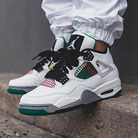 Nike Air Jordan 4 AJ4 men's and women's high-top stitching color basketball shoes sneakers #4